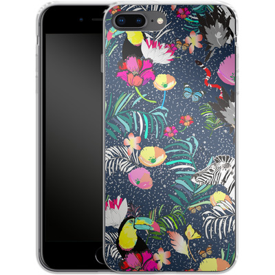 Apple iPhone 8 Plus Silikon Handyhuelle - Jungle Glow von Mukta Lata Barua