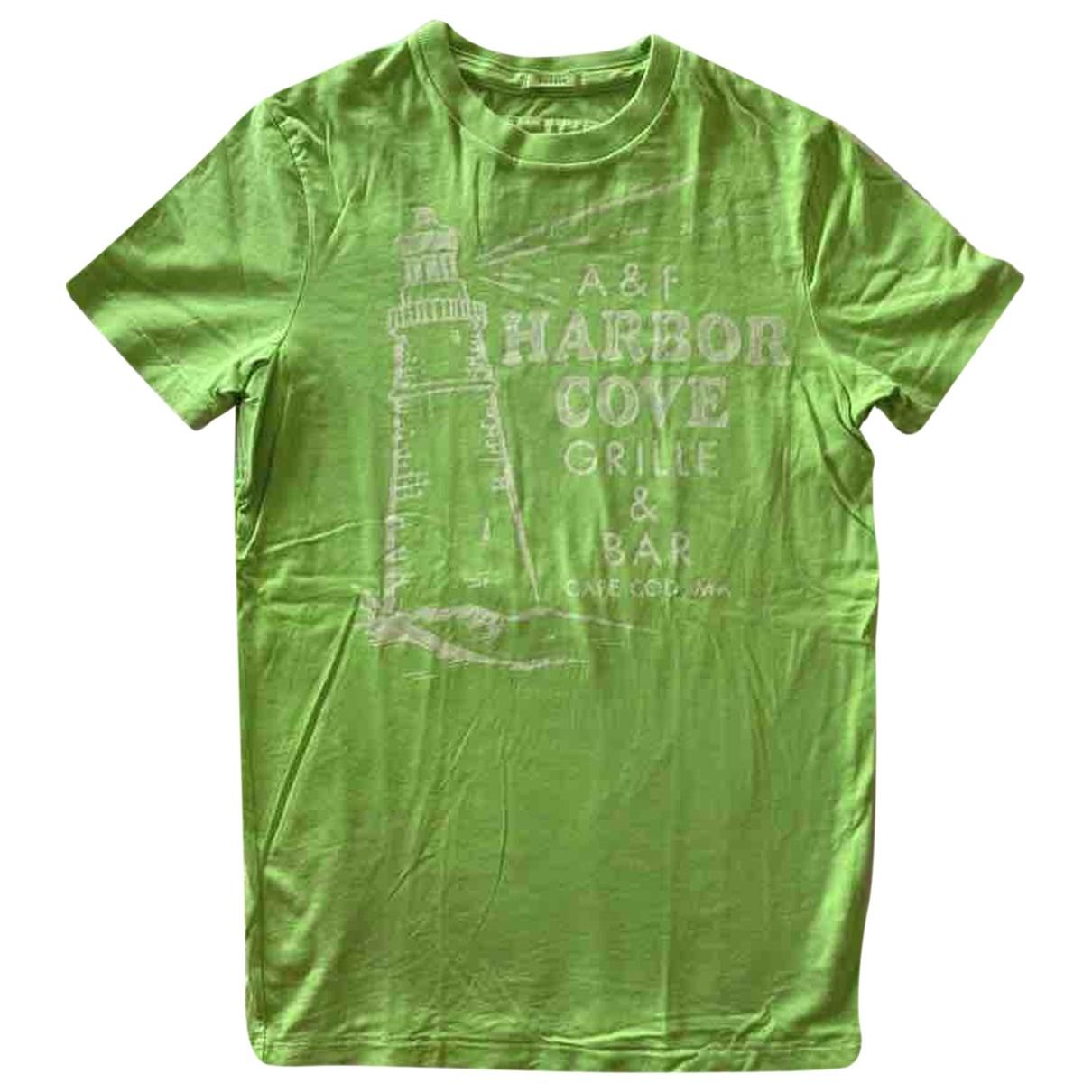 Abercrombie & Fitch - Tee shirts   pour homme en coton - vert