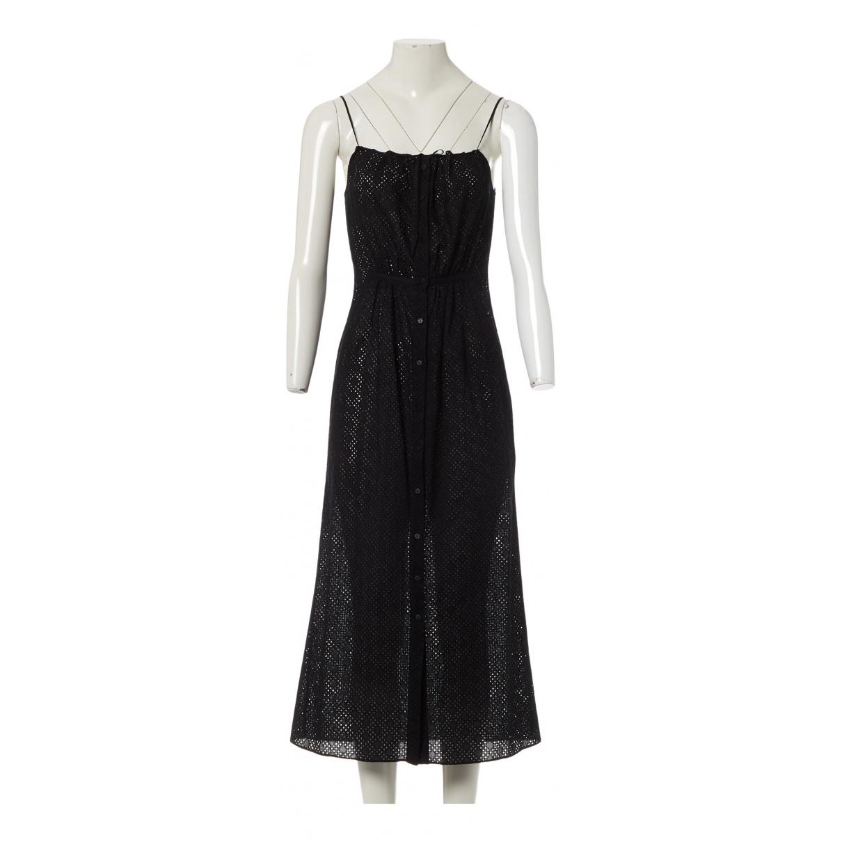 Raey - Robe   pour femme en coton - noir