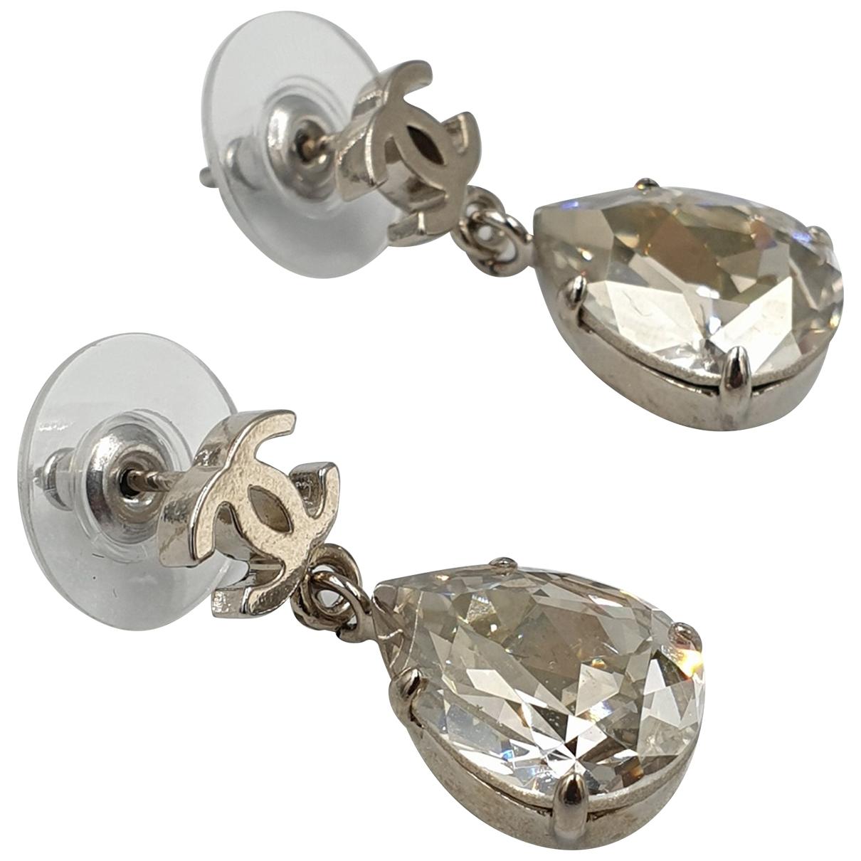 Chanel - Boucles doreilles   pour femme en acier - argente