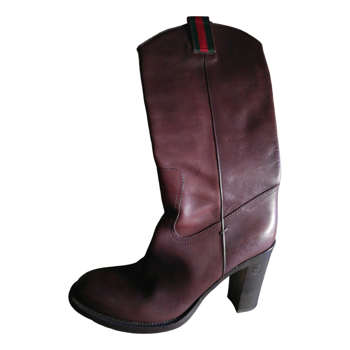Gucci \N Brown Leather Boots for Women 38.5 EU