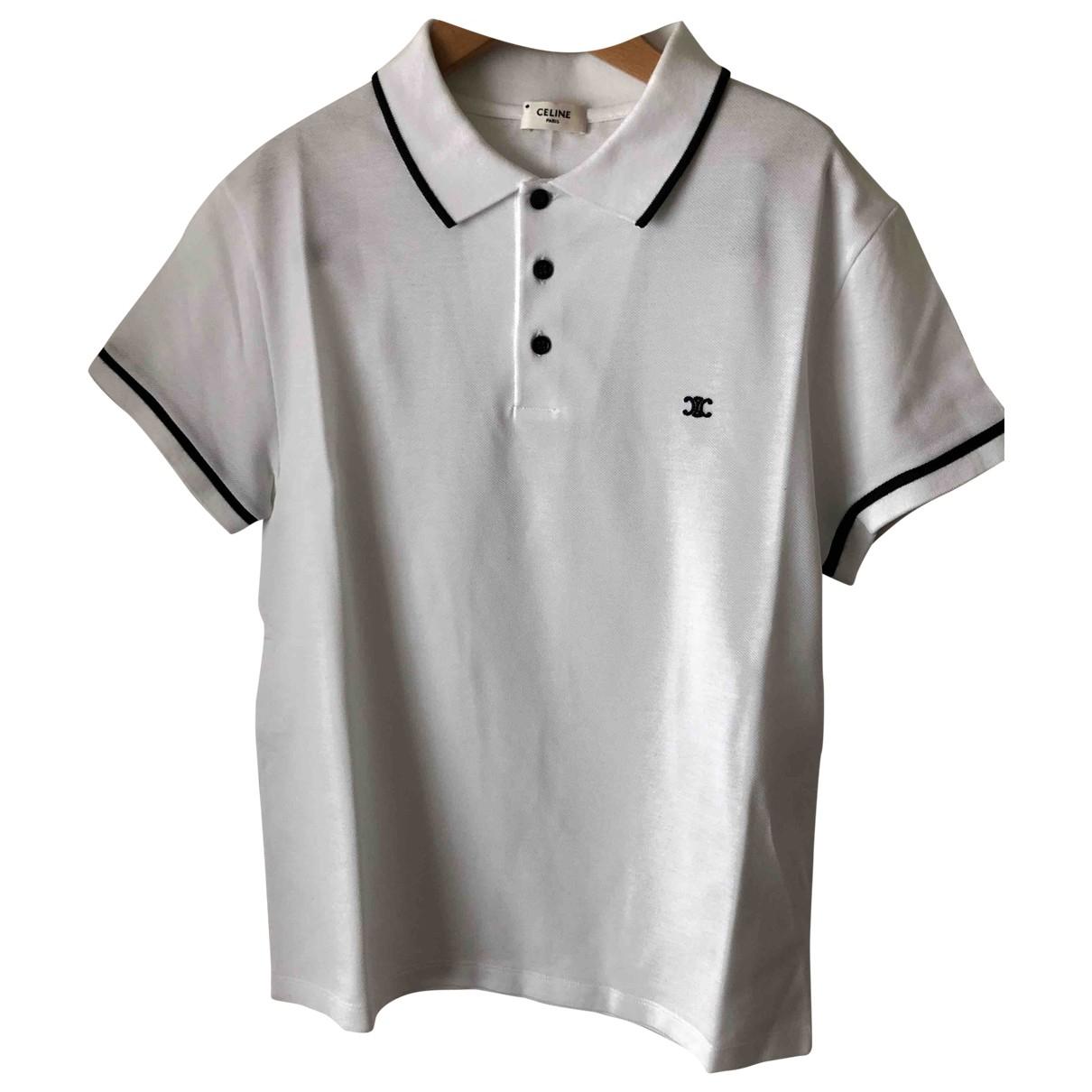 Celine - Polos   pour homme en coton - blanc