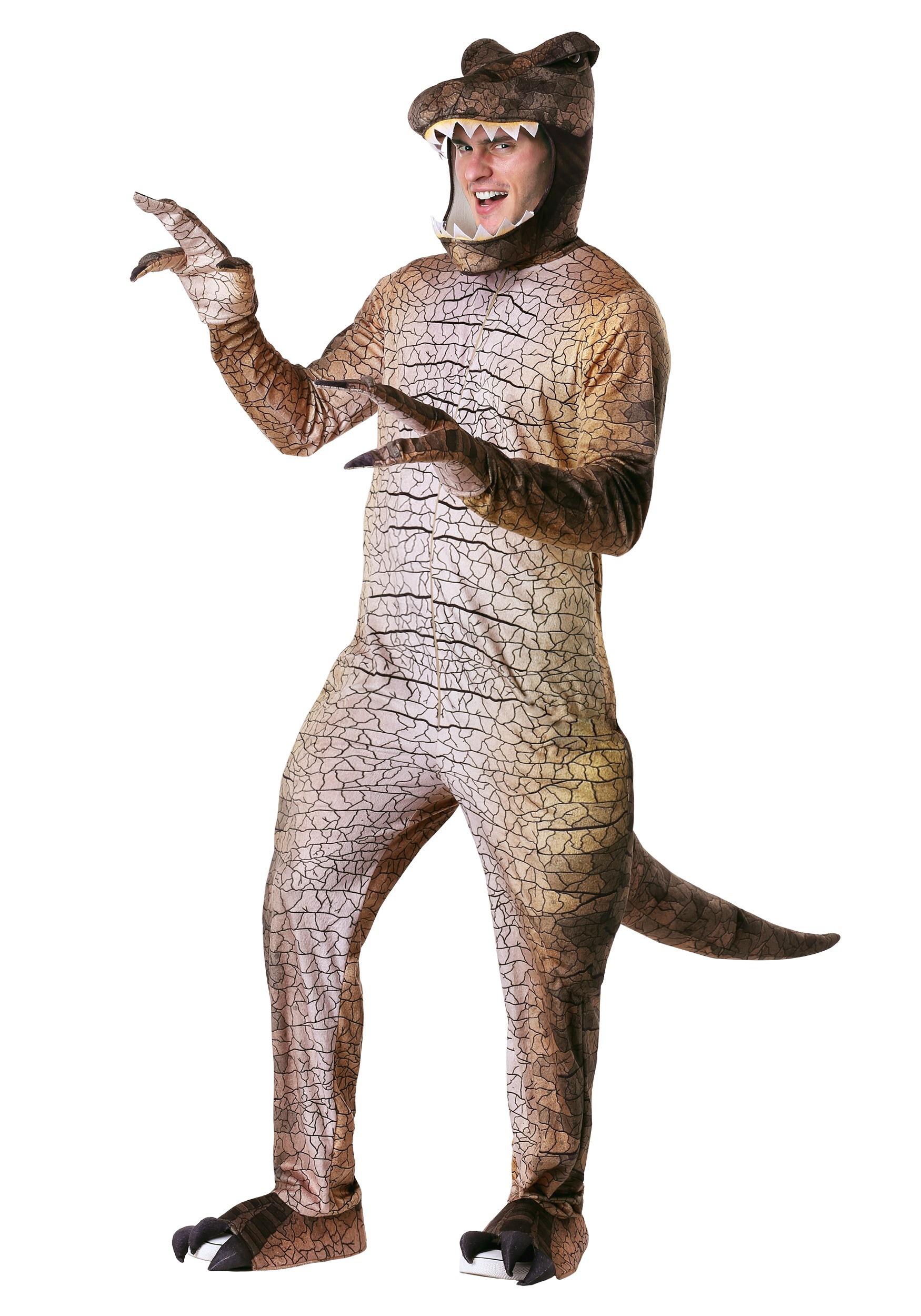 Prehistoric T-Rex Dinosaur Costume for Adult Men