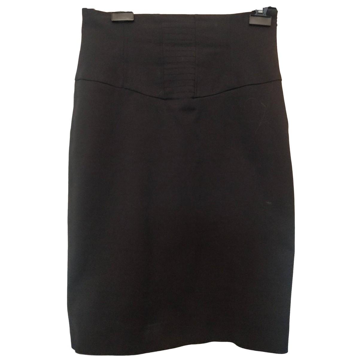 Guess - Jupe   pour femme en coton - elasthane - noir
