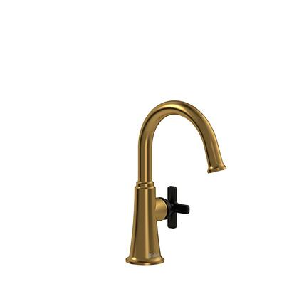 Momenti MMRDS00XBGBK-05 Single Hole Lavatory Faucet with x Cross Handle without Drain 0.5 GPM  in Brushed