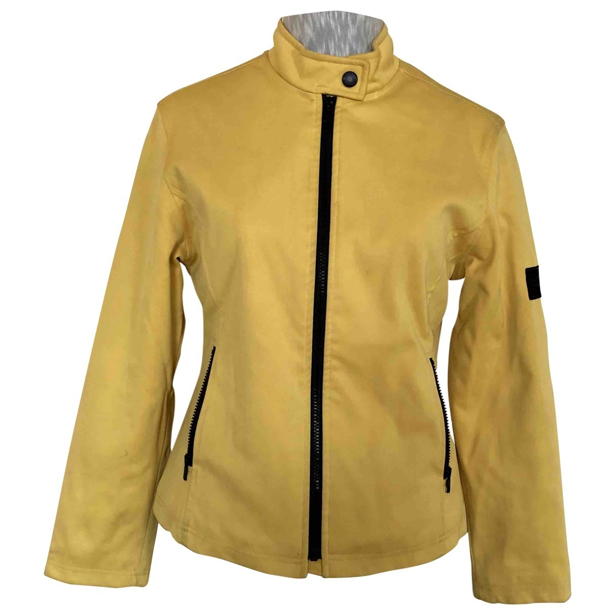 Burberry \N Yellow Leather jacket for Women M International