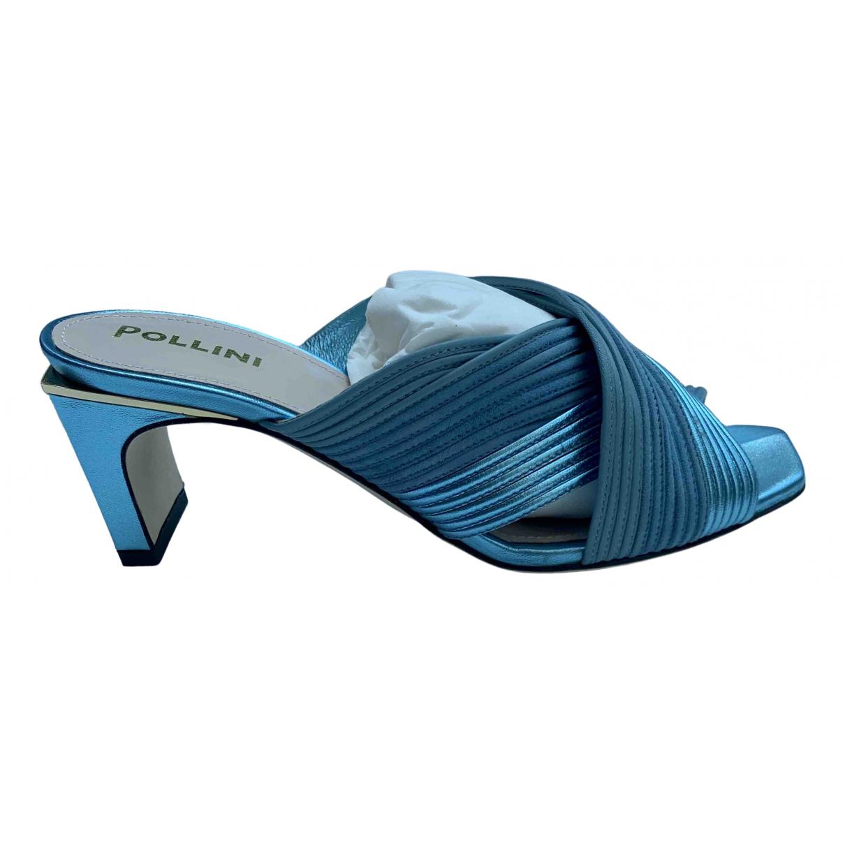 Pollini \N Sandalen in  Blau Leder
