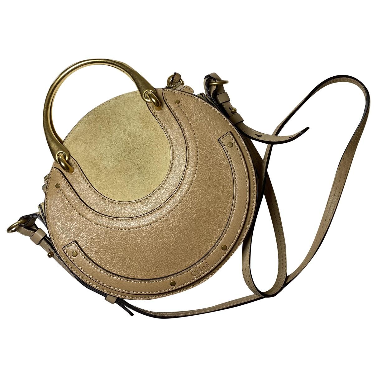 Chloe Pixie Handtasche in  Beige Leder