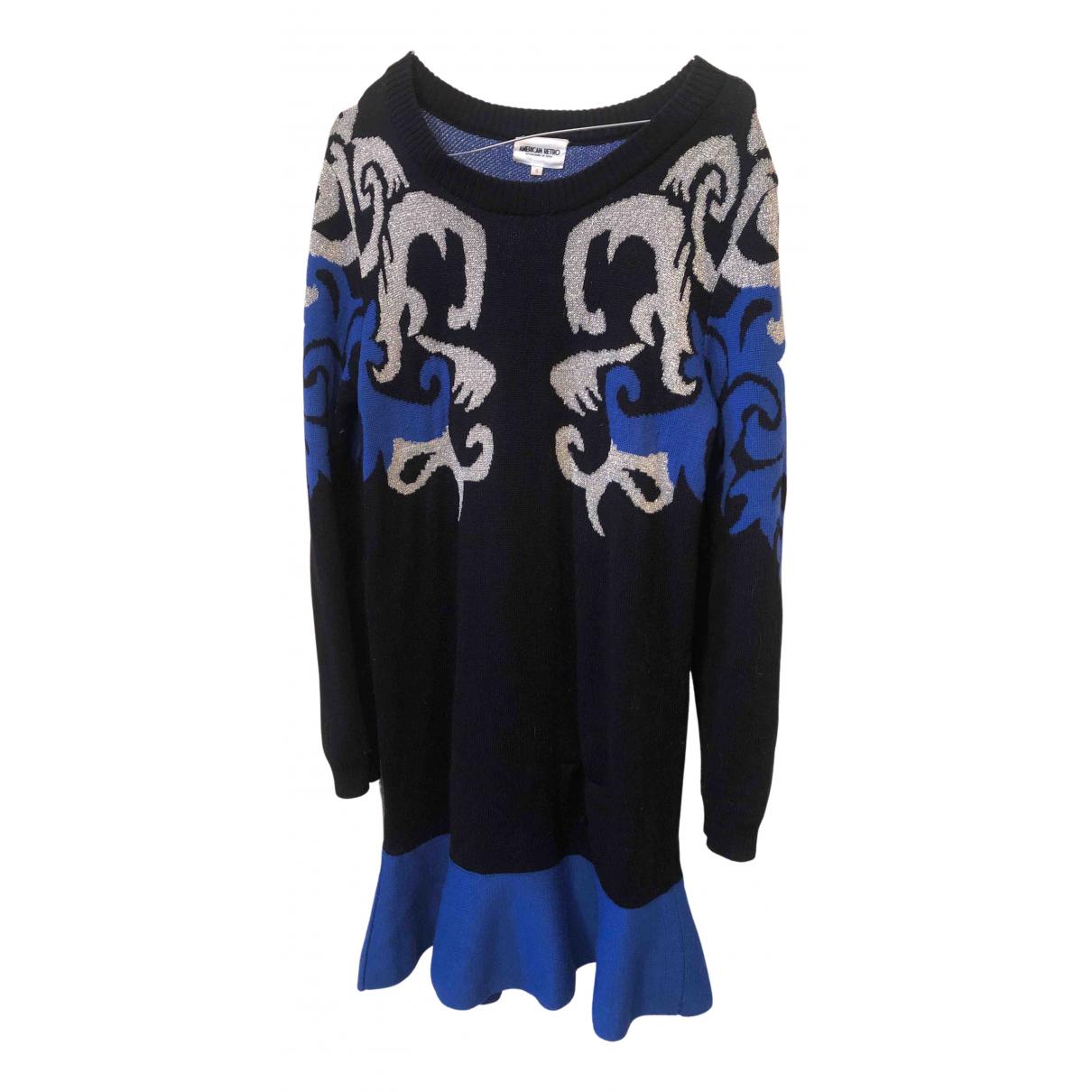 American Retro \N Kleid in  Schwarz Wolle