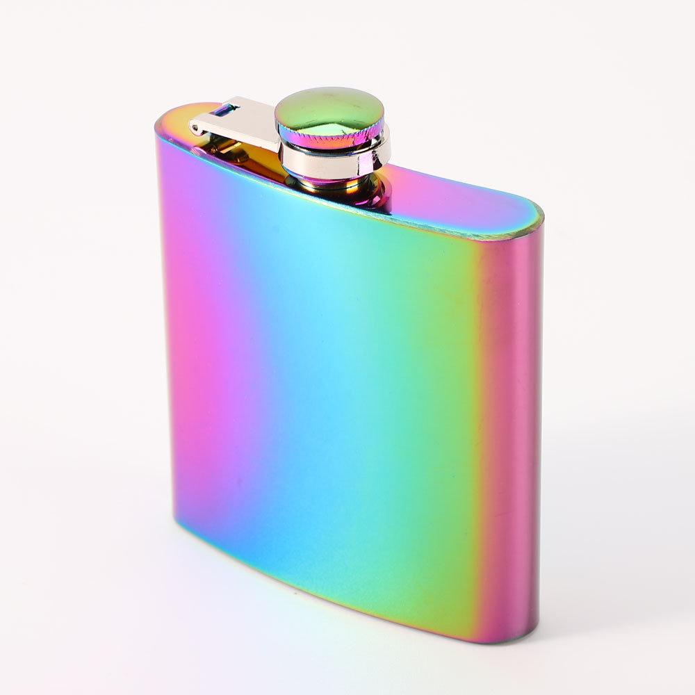 7/8 OZ Portable Stainless Steel Hip Flask Liquor Whiskey Alcohol Pocket Wine Bottle Best Gift