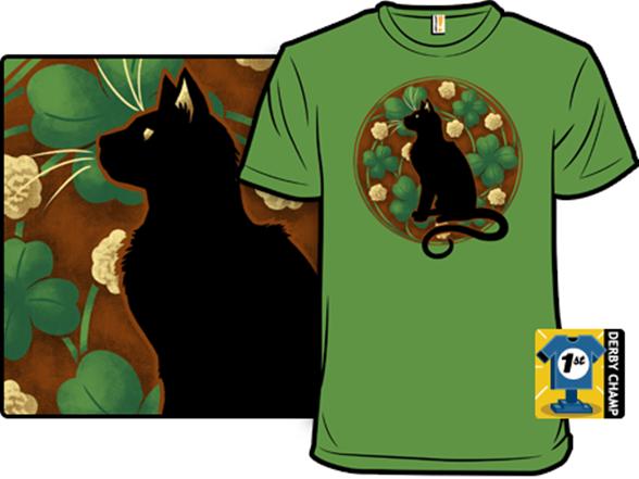 Cat Nouveau T Shirt
