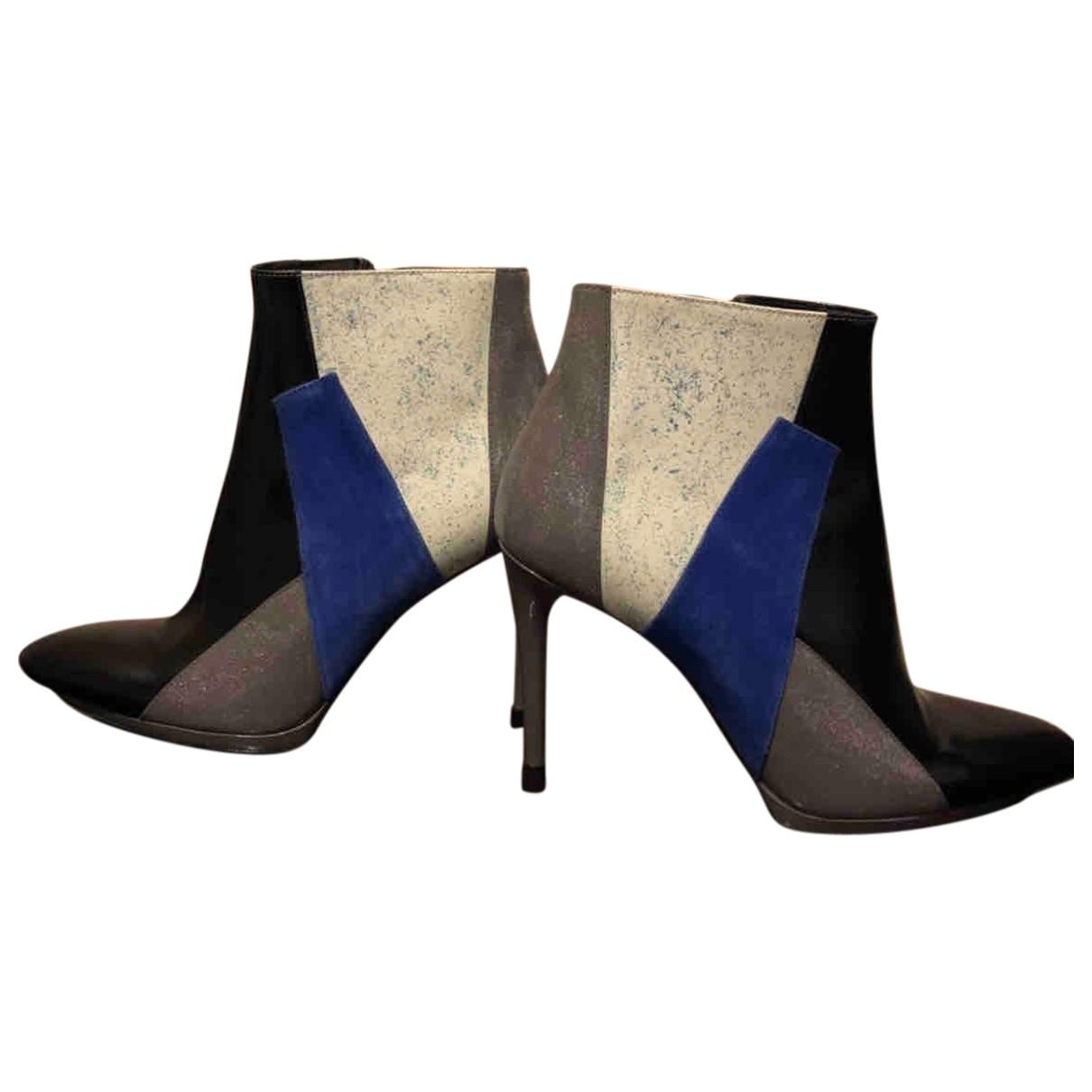 Balenciaga \N Multicolour Leather Ankle boots for Women 37 EU