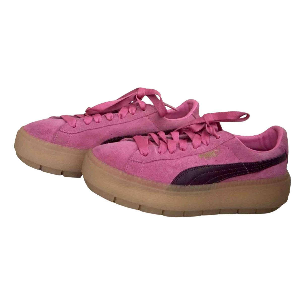 Puma - Baskets   pour femme en suede - rose