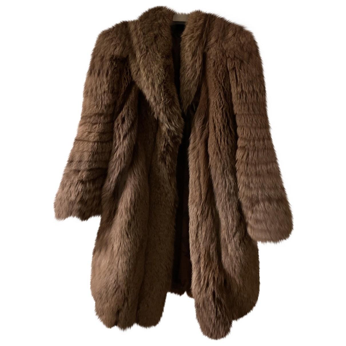 - Veste Oversize pour femme en renard - marron