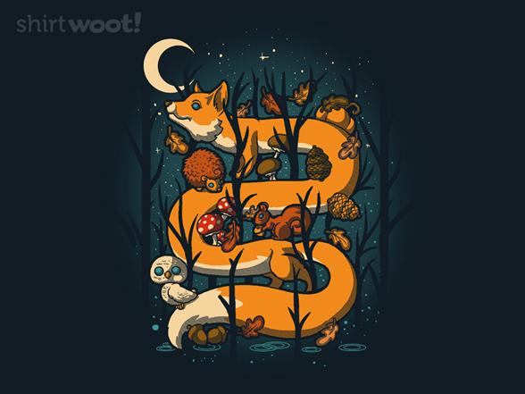 Night Fall Animals T Shirt