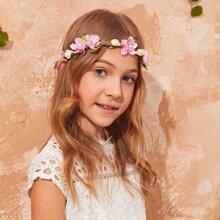 Toddler Girls Flower Decor Hair Accessory