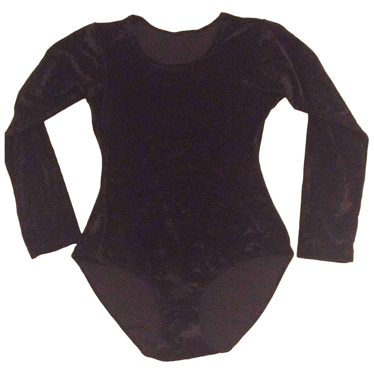 - Top   pour femme en velours - noir
