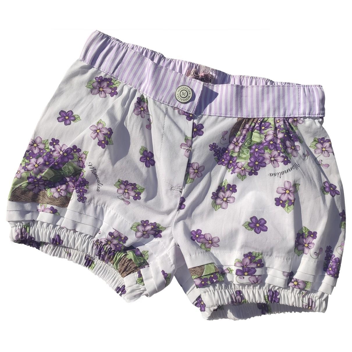 Monnalisa \N Shorts in  Lila Baumwolle