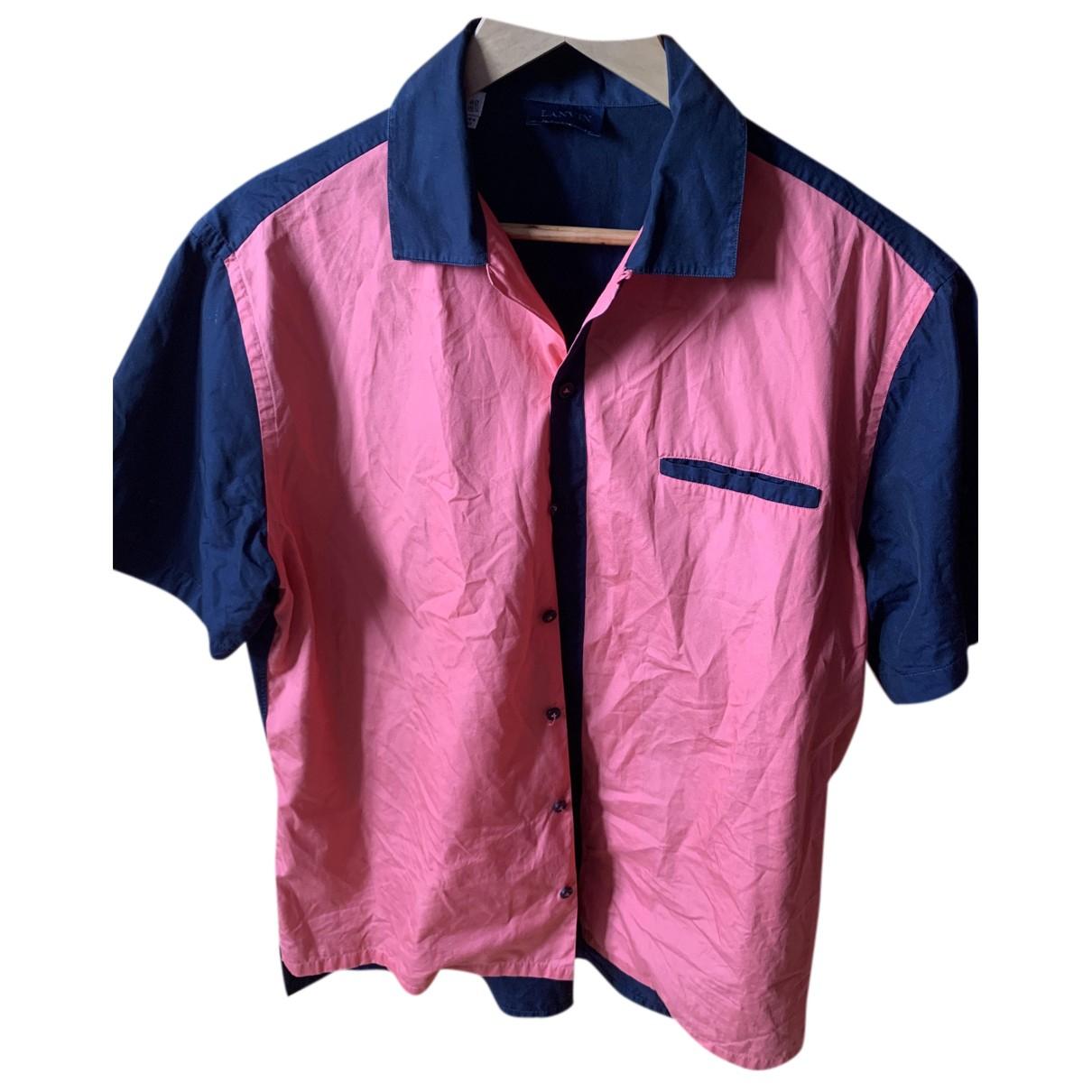 Lanvin - Chemises   pour homme en coton - rose