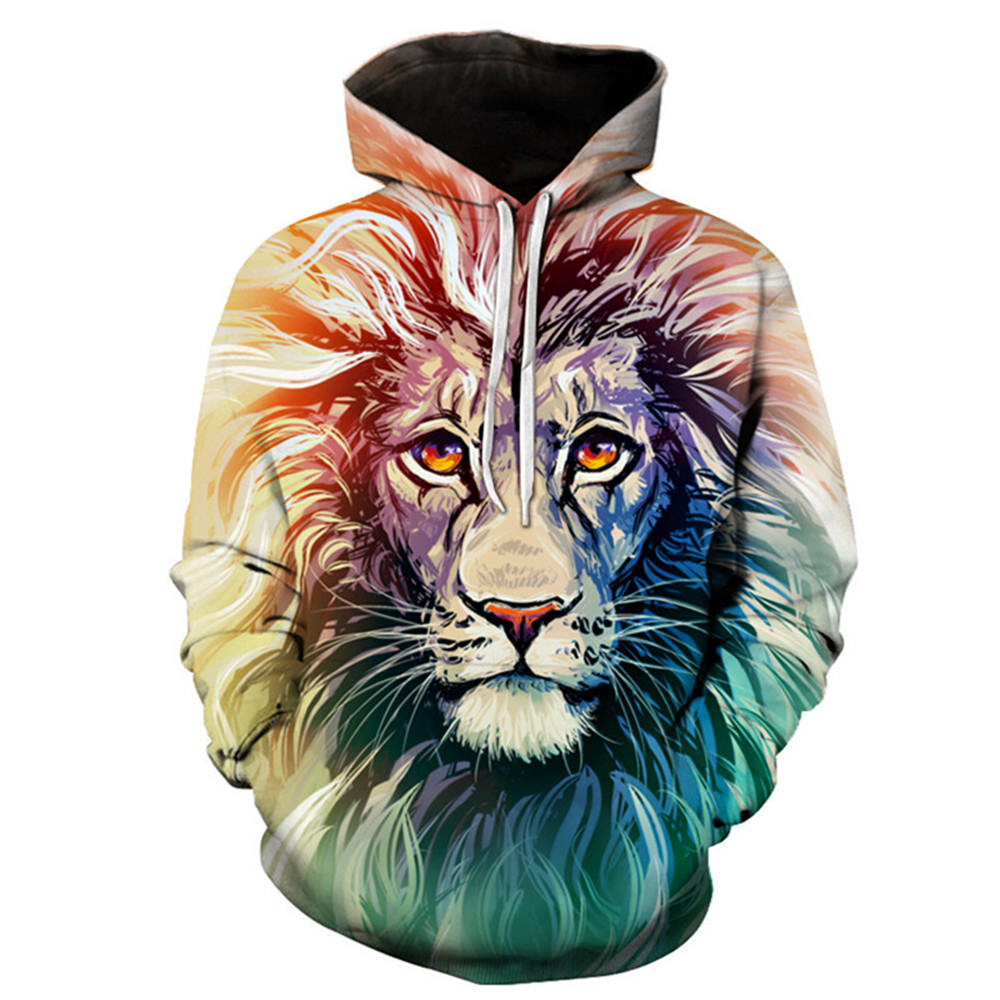 Stylish 3D Digital Print Men's Soft and Breathable Sports Hoodies No pilling No Fading