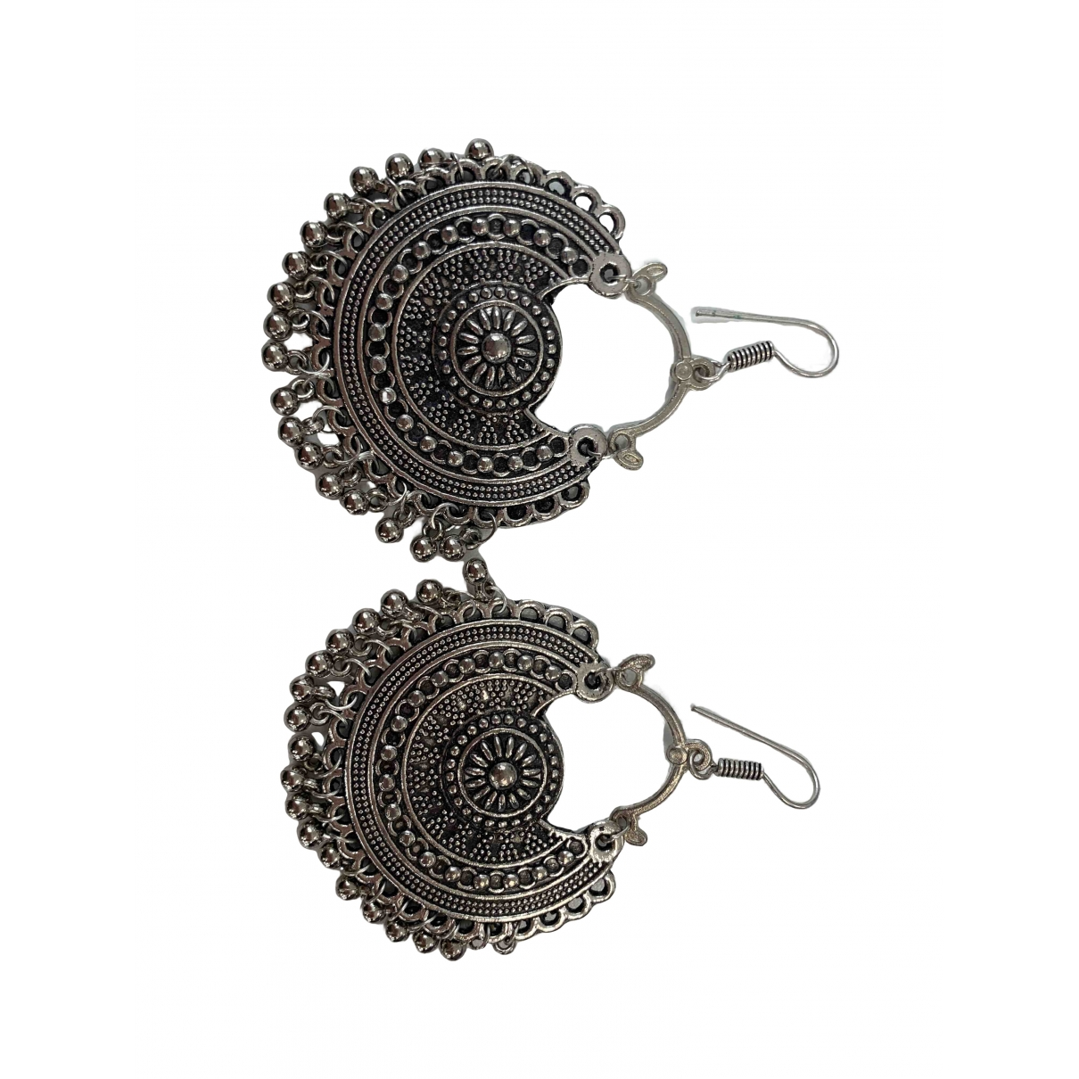 - Boucles doreilles Motifs Ethniques pour femme en acier - gris