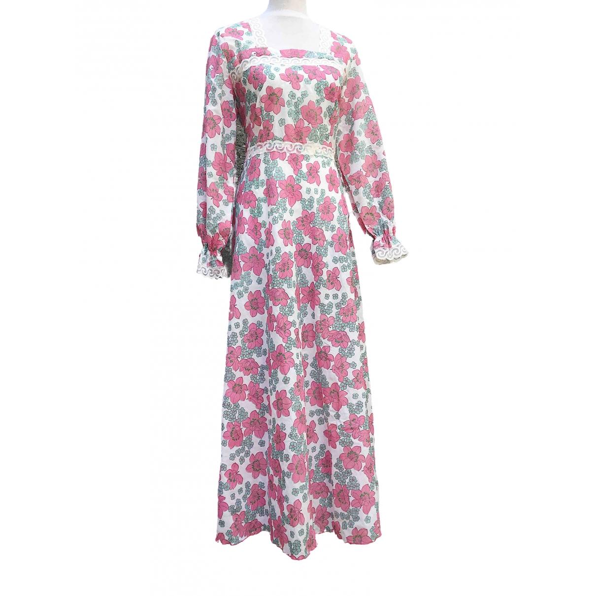 Non Signe / Unsigned Hippie Chic Kleid in  Weiss Polyester