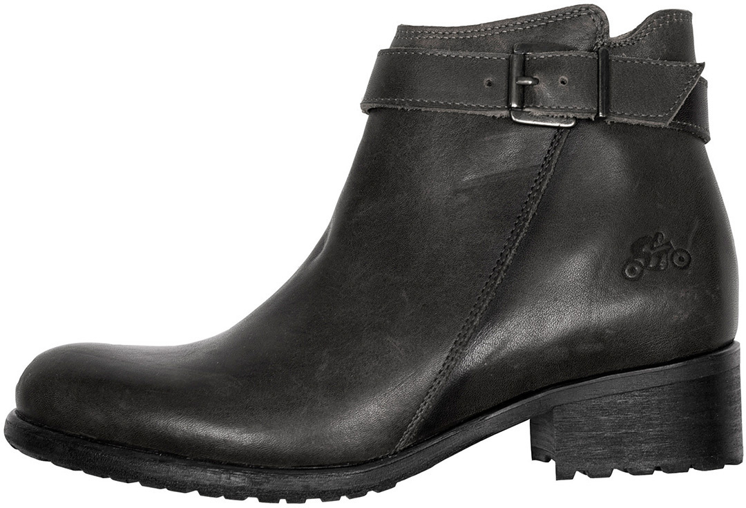 Helstons Lisa Aniline Lady Zapatos Motorista De Cuero Negro Para Mujer 37