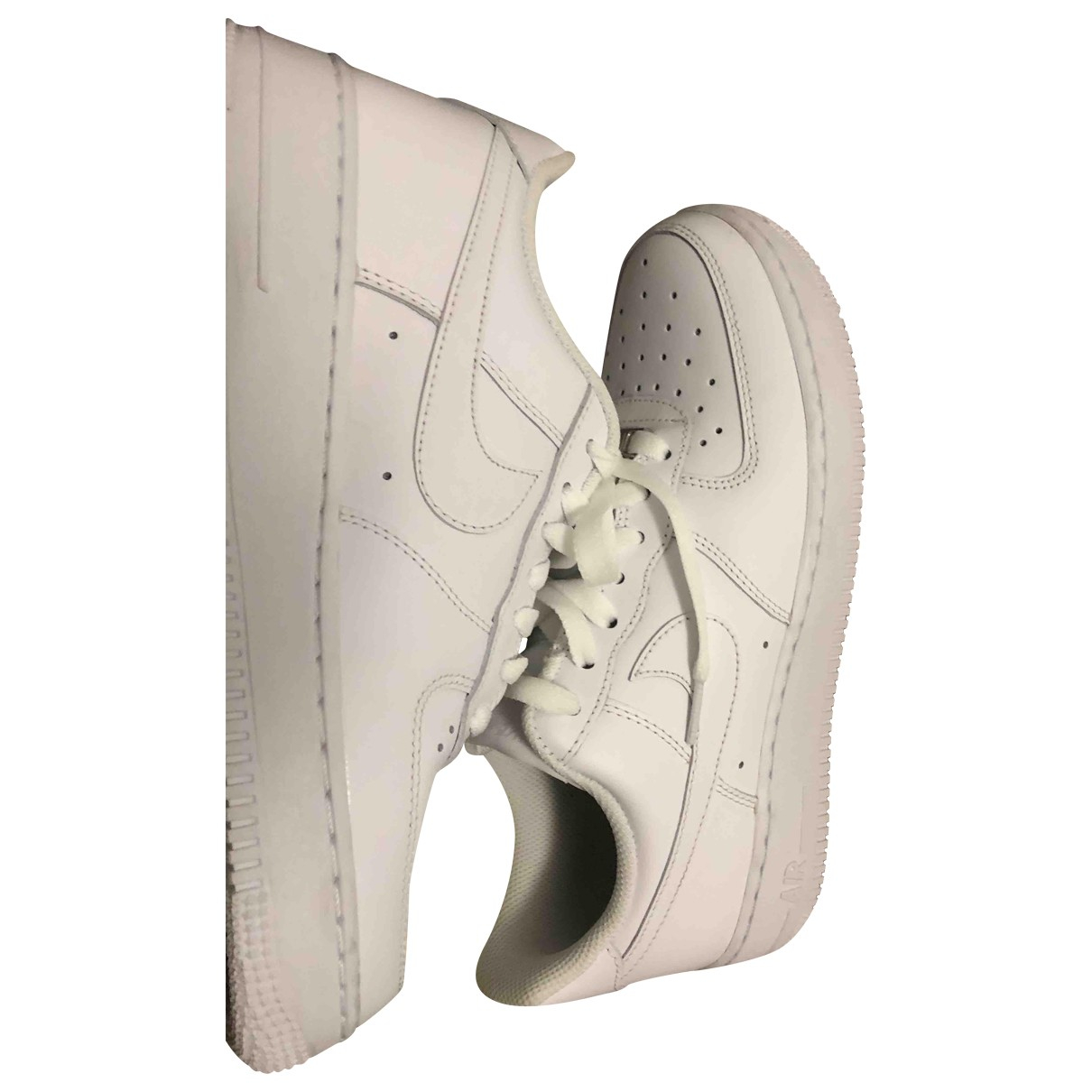 Nike Air Force 1 White Leather Trainers for Men 7 US