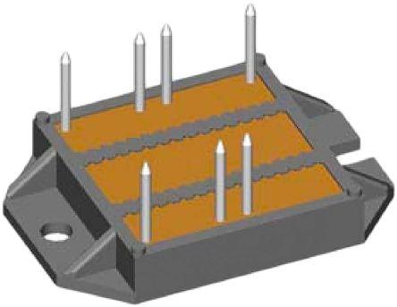 IXYS VUO122-16NO7, 3-phase Bridge Rectifier, 100A 1700V, 7-Pin ECO-PAC2