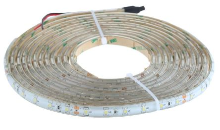 RS PRO Cool White LED Strip, 5m Reel, 24V