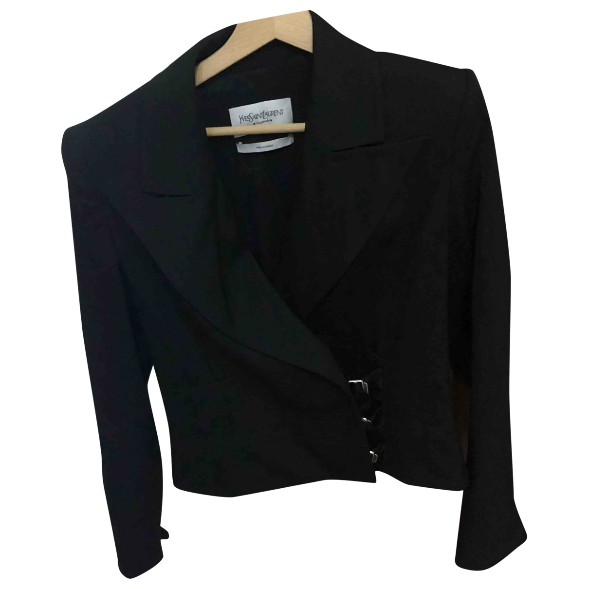 Yves Saint Laurent \N Black Wool jacket for Women 38 FR