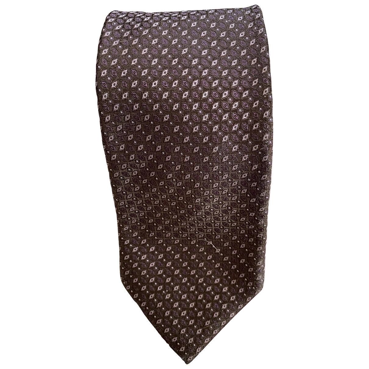 Boss - Cravates   pour homme en soie - marron