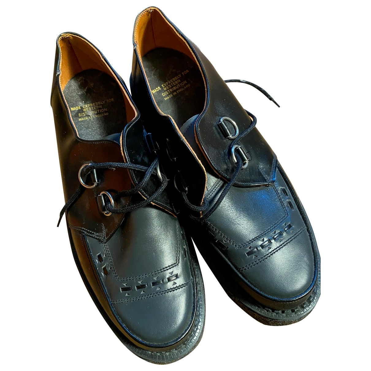 Non Signé / Unsigned \N Black Leather Lace ups for Men 10.5 UK