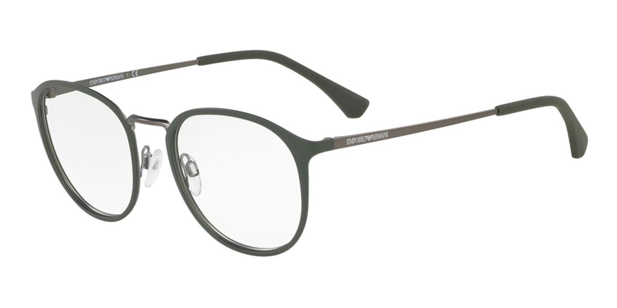Emporio Armani EA1091 3230 Men's Glasses Grey Size 50 - Free Lenses - HSA/FSA Insurance - Blue Light Block Available