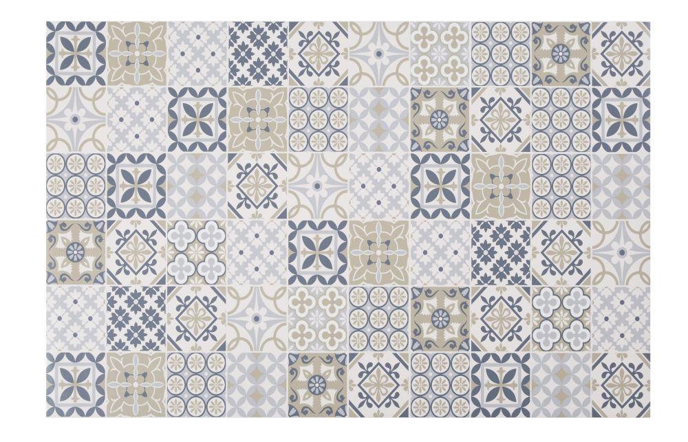 Vinyl-Teppich mit bunten Zementfliesen-Motiven 100x150