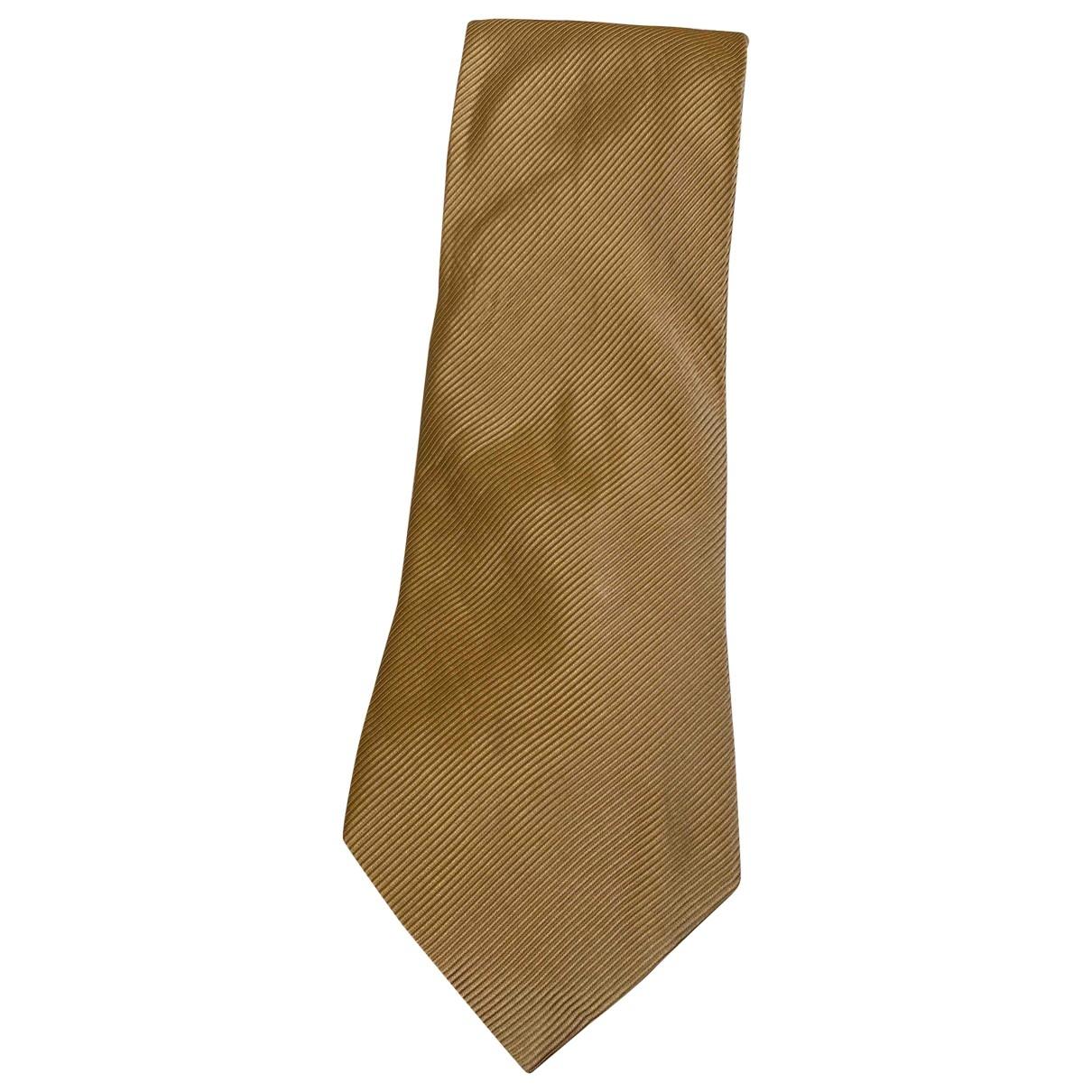 Churchs - Cravates   pour homme en soie - beige