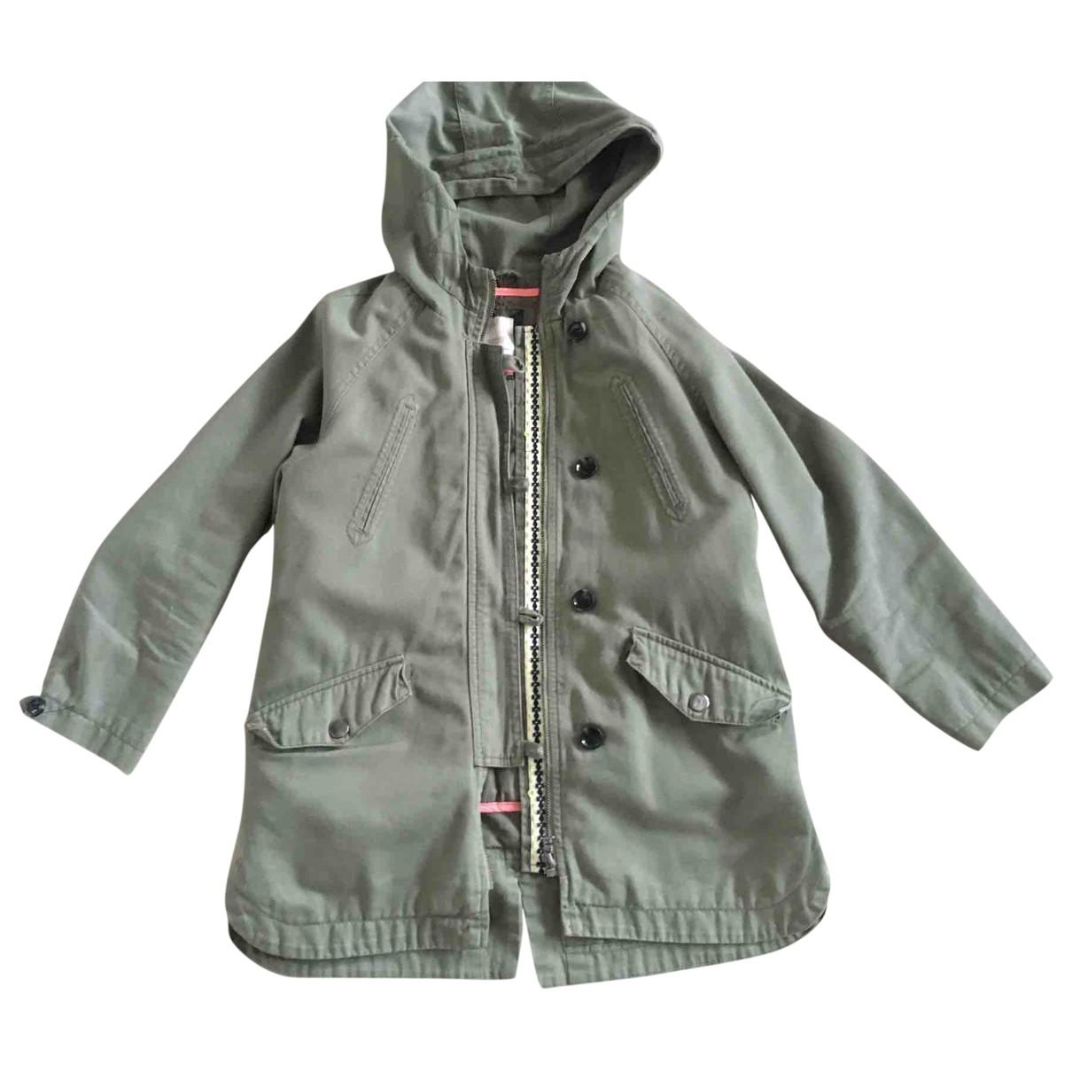 Zara - Blousons.Manteaux   pour enfant en coton - kaki