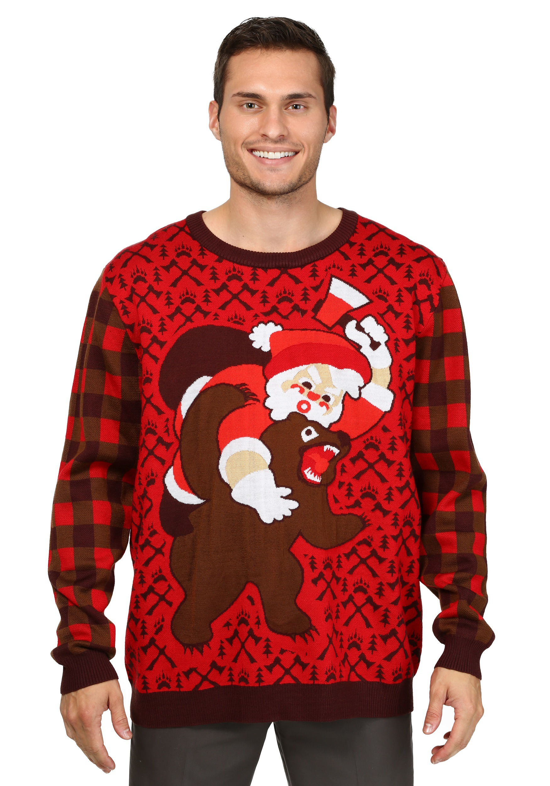Santa vs. Bear Ugly Christmas Sweater