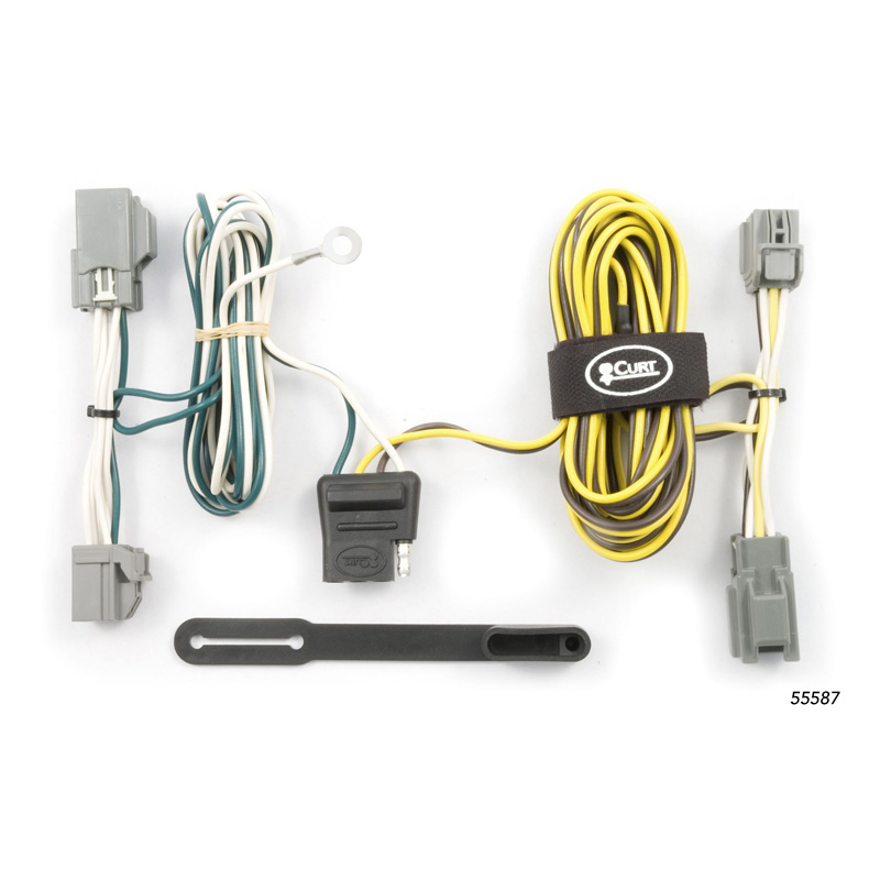 Curt 55587 Custom Wiring Harness (4-Way Flat Output)
