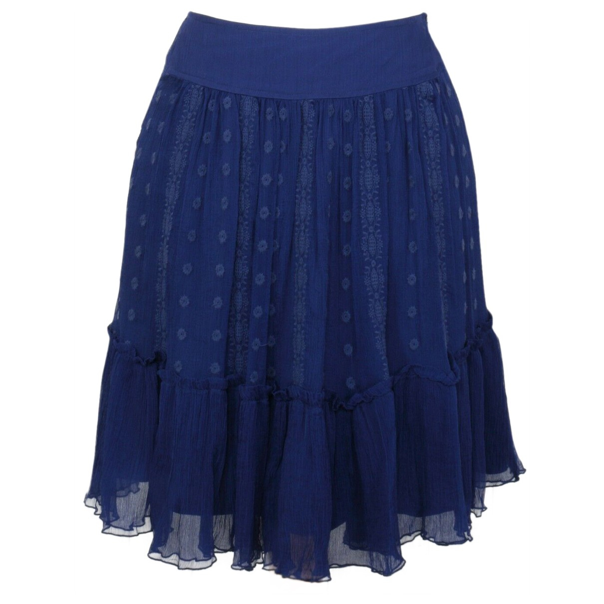 Essentiel Antwerp \N Blue Silk skirt for Women 38 FR