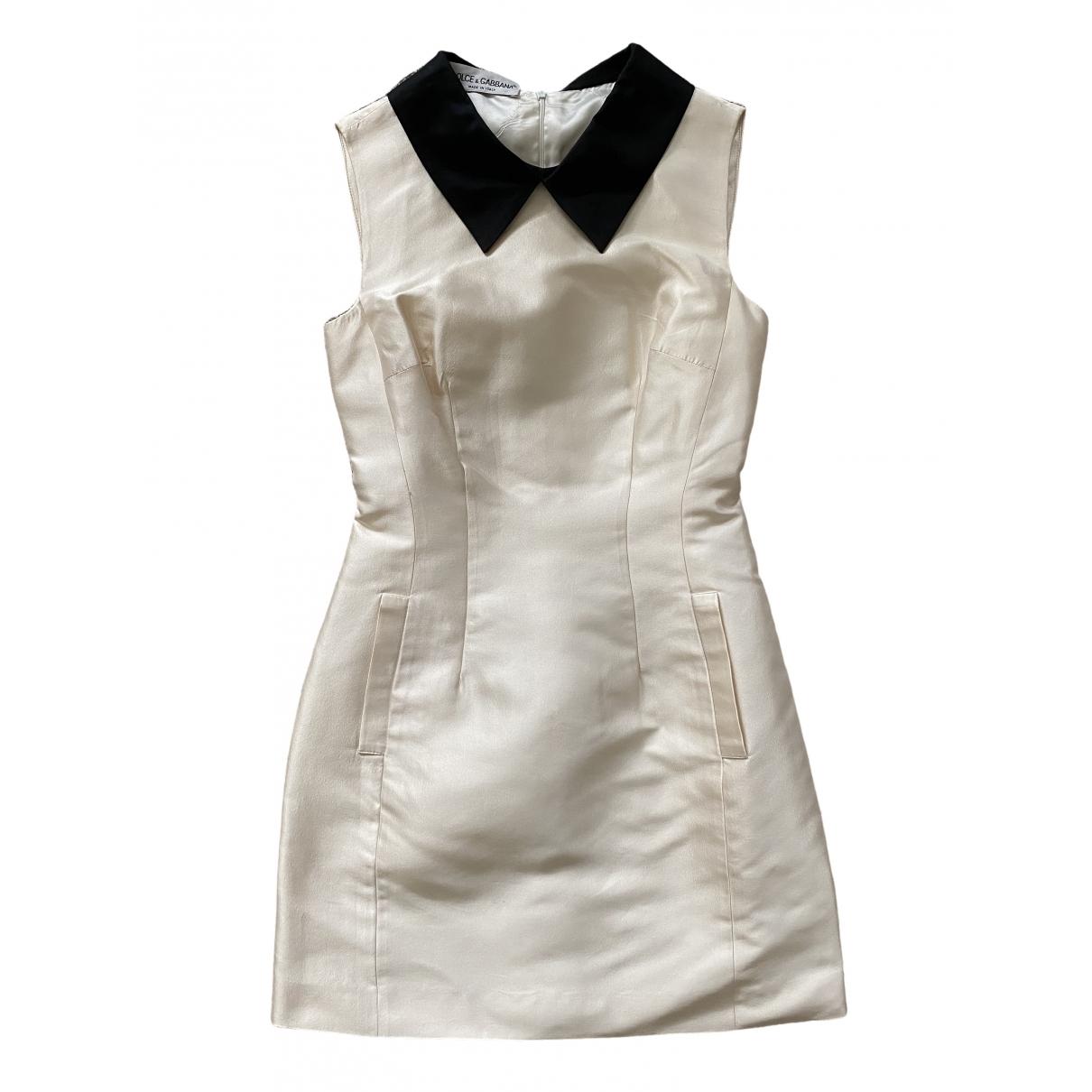 Dolce & Gabbana \N Kleid in  Weiss Seide