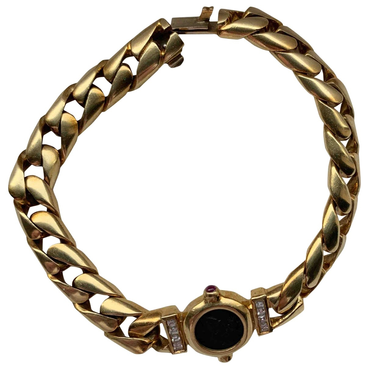 Non Signe / Unsigned \N Armband in  Gelb Gelbgold