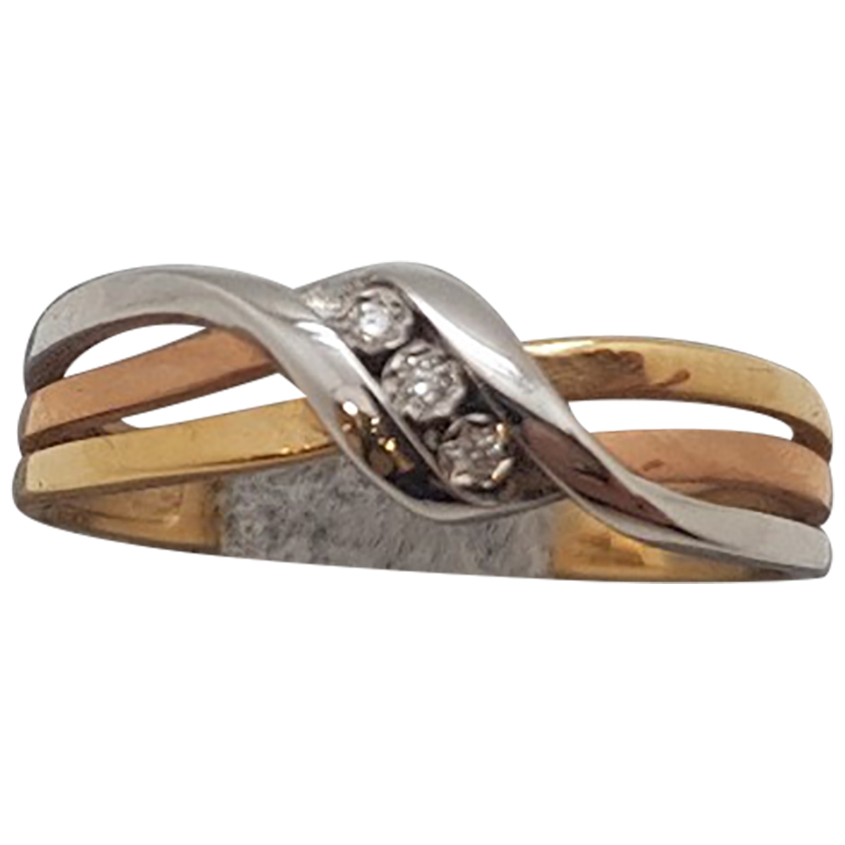 Non Signe / Unsigned Alliance Ring in  Gelb Gelbgold