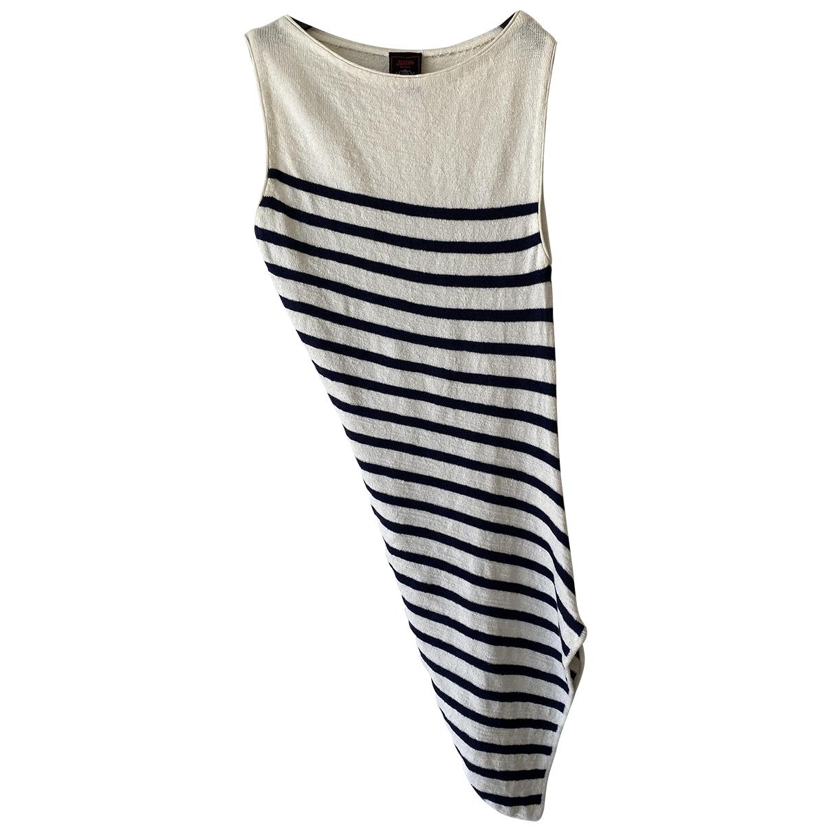 Jean Paul Gaultier - Top   pour femme en coton - marine