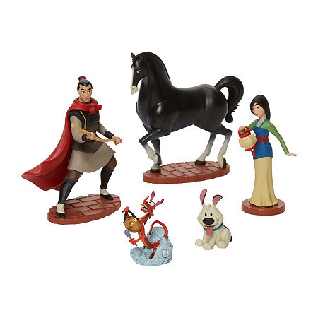 Disney Collection 5-Pc. Mulan Figurine Playset, One Size , No Color Family