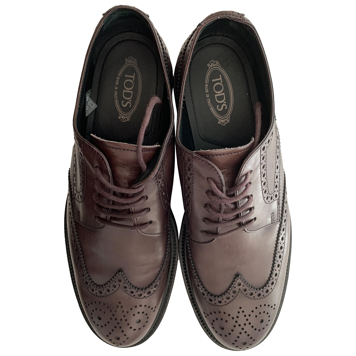 Tod's \N Brown Leather Flats for Men 8.5 UK