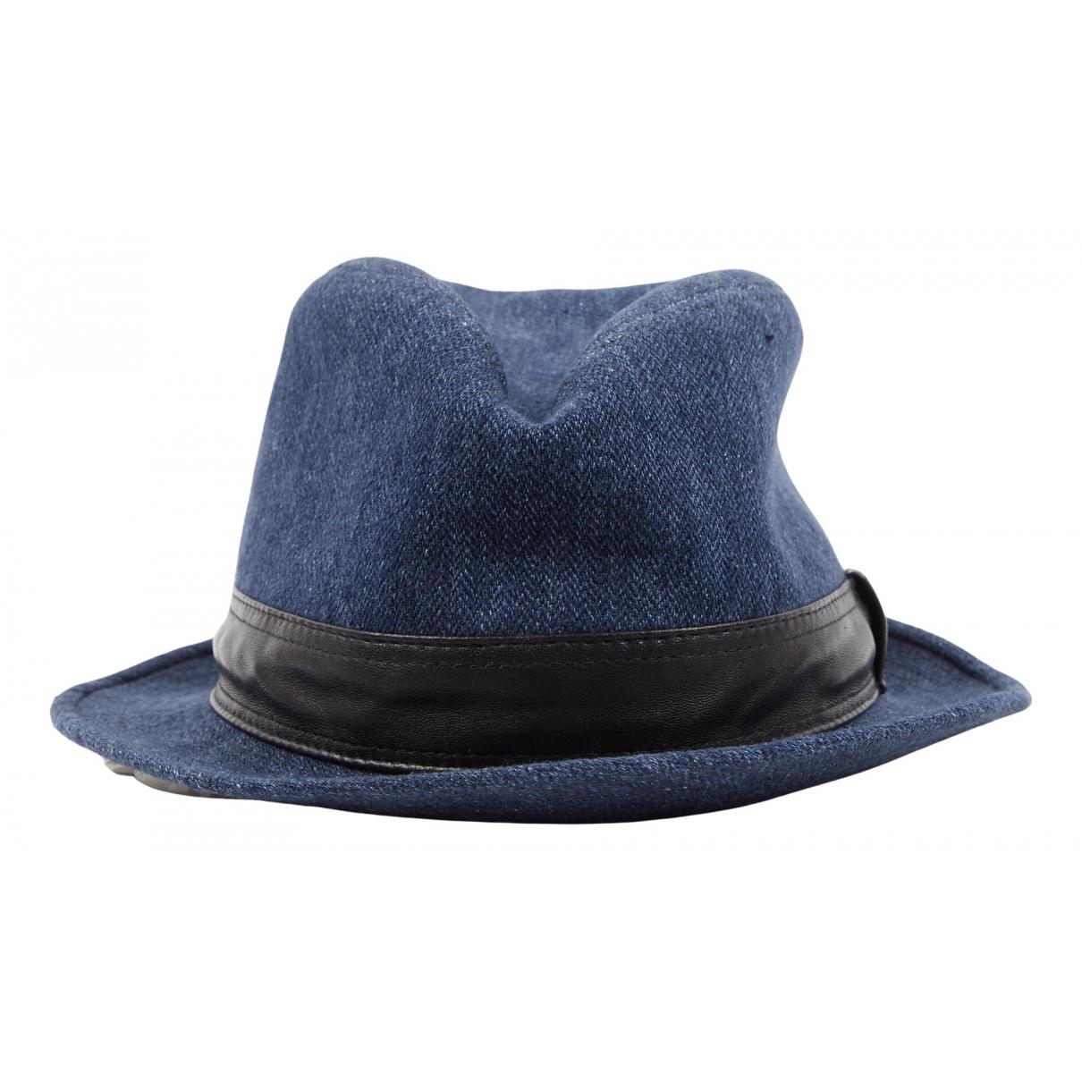 Hermes - Chapeau   pour femme en lin - bleu