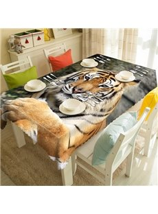 Vivid Polyester Tiger Pattern 3D Tablecloth