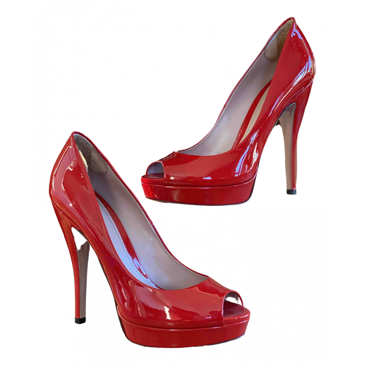 Gucci \N Red Patent leather Heels for Women 40 EU