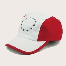 Boys Star Pattern Colorblock Baseball Cap